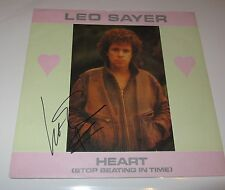 LEO SAYER  - SIGNED  HEART 7 INCH PS - GENUINE  - UACC PROOF