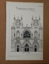 Antique Architects print Farmagusta Cathedral Cyprus Building News .