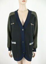 Marc by Marc Jacobs Women's Cardigan Sweater Jacket Zipper Pockets XS S 7708