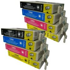 8 Replacements for Epson T1291 T1292 T1293 T1294 Printer Ink Cartridges