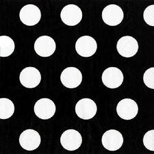 PAPER BEVERAGE NAPKINS ~ BLACK POLKA DOT~ Made In USA
