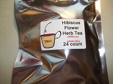 Hibiscus Flower Tea Bags (Hibiscus sabdariffa)  24 count