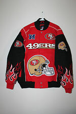 New NFL San Francisco 49ers twill cotton red jacket men's L $130 SALE