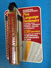 Linguatour English Spanish French Italian German 5 in 1 Pocket Book Dictionary