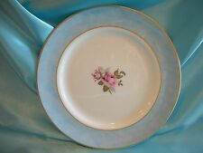 """Aynsley Fine Bone China Asia Rose Blue Plate 8.2"""" Made In England"""