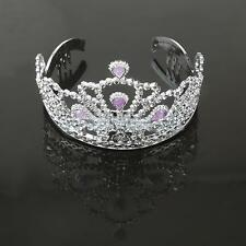 Silver Plastic Princess Tiara Crown Fancy Dress Costume Party Prop Accessory