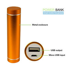 Gold 2600mAh USB Portable External Backup Battery Charger Power Bank for phone