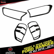 GRAY HEADLIGHT & TAILLIGHT LAMP LIGHTS COVER FORD RANGER MK2 WILDTRAK 2015-2016