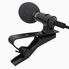 Tie Clip Mic Lapel Lavalier Condenser Microphone for iPhone iPad iPod Smartphone
