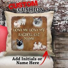 Personalizzato Bambola Di Pezza Gatto Gattino Vintage Cuscino Tela Copertura