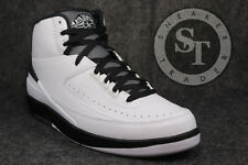 AIR JORDAN 2 II RETRO 834272-103 WING IT WHITE BLACK DARK GREY DS SIZE: 8.5