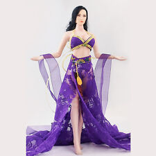 "Purple Chinese Dress Ancient-Costume For 1/6 Scale Fe 12"" Action Figure phicen"
