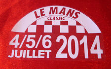 Lemans le mans classic 2014 decal autocollant le collement électrostatique en verre