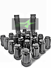 20 BLACK SPLINE TUNER RACING LUG NUTS +1 KEYS | 12X1.25 | SUBARU STI  BRZ FR-S
