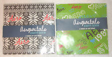 AEROPOSTALE clothing company x2 lot Christmas Birthday Wrap Wrapping Paper