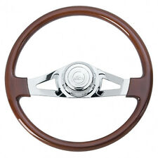 "18"" Chrome 2 Spoke Steering Wheel for Peterbilt 1998+ and Kenworth 2001+"