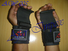 Weight Lifting Hooks Gym Straps Hand Bar Wrist Support Gloves Grip