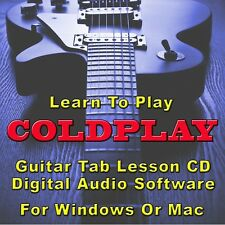 COLDPLAY Guitar Tab Lesson CD Software - 42 Songs