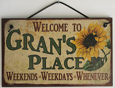 Gran s Sign Place House Welcome Love Grandma Mom Grand Parent Mother Best #1