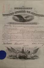 RARE Presidential Army Commission Appointment.  President McKinley 1901