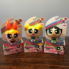 New The POWERPUFF GIRLS ACTION EYES DOLL Lot Complete Set of 3