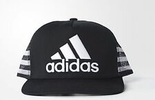 Adidas 3 stripes Trucker Cap snap back baseball hat mens womens one size black