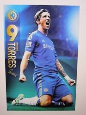 FERNANDO TORRES UNSIGNED CHELSEA ACTION POSTER UNFRAMED - BRAND NEW