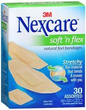 Nexcare Comfort Fabric Bandages Assorted 30 Each (Pack of 3)