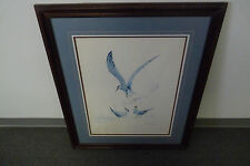 """VINTAGE RICHARD E. WILLIAMS SIGNED """"COMMON TERNS"""" ARTISTS PROOF (19.5"""" x 23.5"""")"""