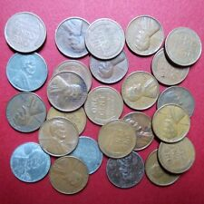 *CIRCULATED, Mixed LOT of  25 Vintage  LINCOLN WHEAT CENTS, Coin Lot #7