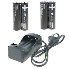 BRC 4pcs 18650 3000mAh Rechargeable li-ion Battery and 1pcs wired 18650 Charger