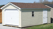AMISH BUILT 12x20 A-FRAME VINYL GARAGE STORAGE SHED DELIVERED PRE-BUILT