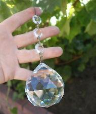 """2.25"""" tall  Center Drop Lamp chandelier cut crystal glass prism part Sun catcher"""