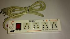 Times Extension Cord Metal Board with 5 yard wire 4 Socket & 1 fuse free