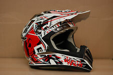AIROH cr900 RAPTOR ROSSO OFF-ROAD ENDURO DOWNHILL Bike Casco Taglia S