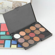 Professional 15 Colors Warm Nude Matte Shimmer Eyeshadow Palette Cosmetic 7@