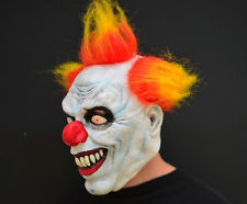 Creepy Evil Scary Halloween Clown Mask Rubber Latex Yellow Haired Clown FREESHIP