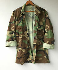 Mens Vintage Army Camo Jacket Military Shirt Camouflage Medium
