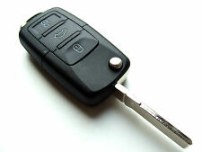VW Golf Bora Jetta Passat 3 Button Flip Remote Key Fob Case - Blank HAA Blade