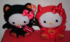 Ty Beanie Babies Set ~ HELLO KITTY BLACK CAT & RED DEVIL ~ MINT WITH MINT TAGS