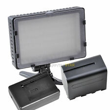 Pro 216 LED Light for Camera Video Camcorder with F970 6600mAh Battery Charger