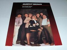 MURPHY BROWN (End Credit Theme) sheet music from TV show '94 3 pages VG+ shape