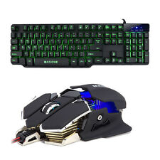 7 ColorLED Half Mechanical Keyboard 4color 4800DPI 10D Gamer Mouse USB Backlit
