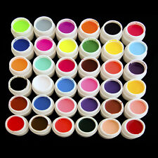 36 Pure Mix Cover Decor Color UV Gel Acrylic Nail Art Tips Builder Polish Set