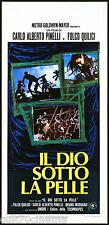 IL DIO SOTTO LA PELLE LOCANDINA CINEMA FILM MONDO MOVIE TRIBE FOLCO QUILICI 1974