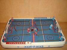 Vintage Soviet USSR HOCKEY Table Top Board Game russian blue red team pool