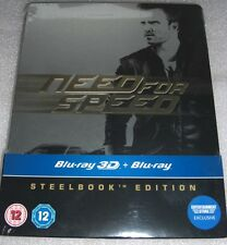 Need for Speed (2014) 2D+3D | Aaron Paul | Blu-Ray Steelbook Edition | NEU NEW