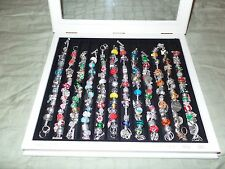 Beautiful Willabee & Ward Charm Bracelets Monthly Holiday w/ Display Case $390