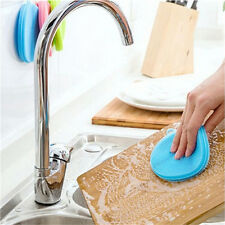 Silicone Dish Washing Sponge Scrubber Kitchen Cleaning antibacterial Tools GS