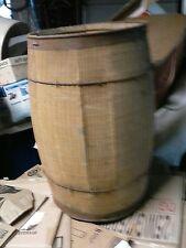 """Vintage Rustic Wood Keg/Nail Barrel Farm/Cowboy Western Country Decor 18""""H"""
